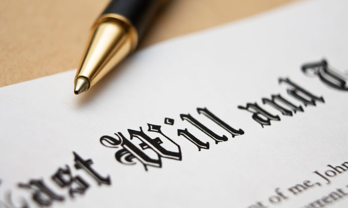What happens when someone dies without a will?